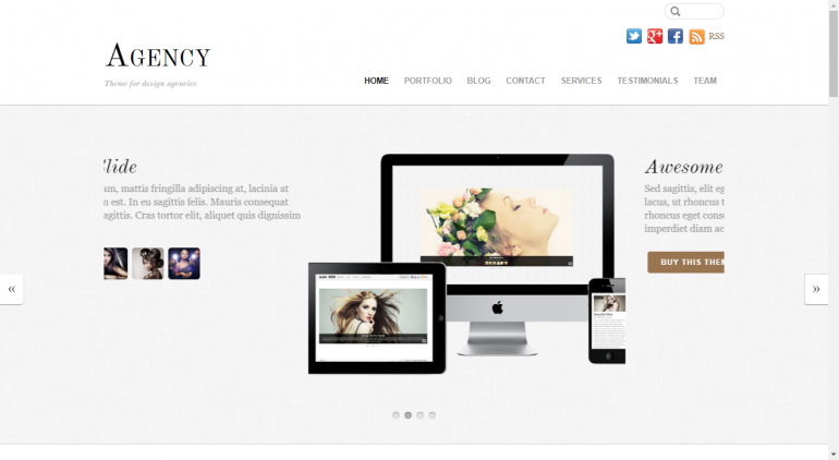 Agency: The 15 Best Minimalist WordPress Themes for 2019