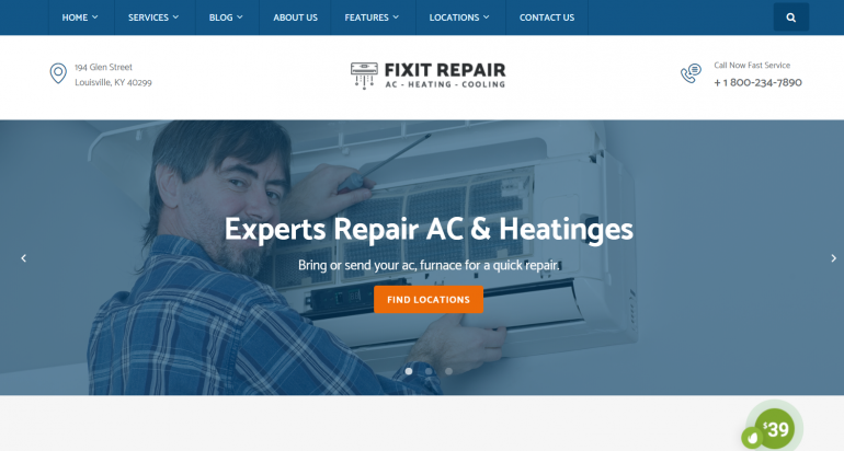Air Conditioner and HVAC: The 10 Best HVAC/Plumbing WordPress Themes for 2019