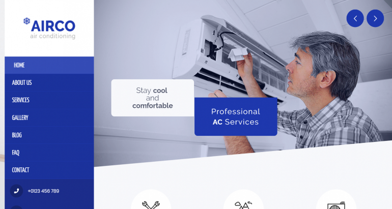 Airco: The 10 Best HVAC/Plumbing WordPress Themes for 2019