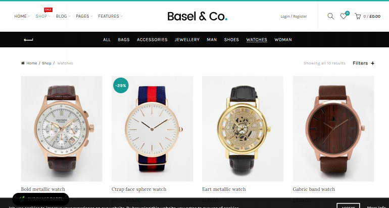 Basel: The 50 Best WordPress eCommerce Themes of 2019 (Free and Paid)