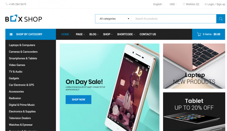 BoxShop: The 50 Best WordPress eCommerce Themes of 2019 (Free and Paid)