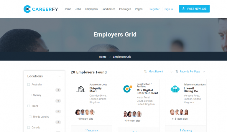 Careerfy: The Best WordPress Job Board Plugins/Themes for 2020