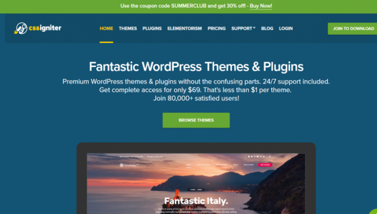 CSSIgniter: The Best Places to Buy WordPress Themes 2020