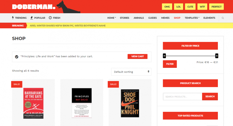 Doberman: The 50 Best WordPress eCommerce Themes of 2019 (Free and Paid)
