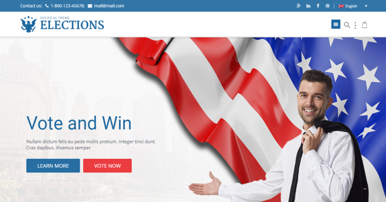 Elections: The 10 Best WordPress Themes for Political Campaigns and Candidates for 2019-2020 (Democrat/Republican/Independent)