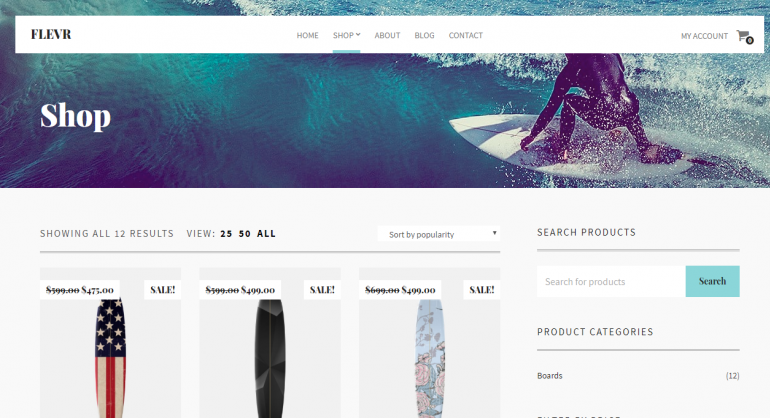 Flevr: The 50 Best WordPress eCommerce Themes of 2019 (Free and Paid)