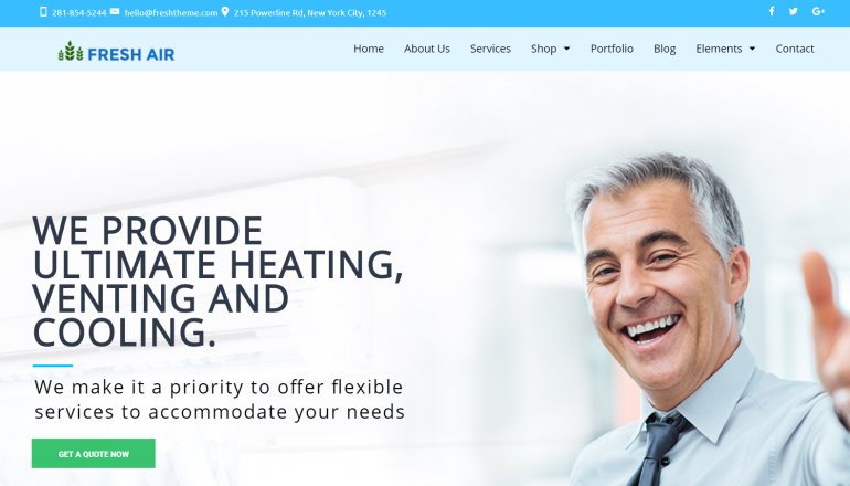 FreshAir: The 10 Best HVAC/Plumbing WordPress Themes for 2019