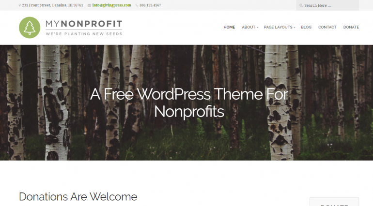 GivingPress Lite: The Best Free (or Really Cheap) WordPress Church Themes of 2019