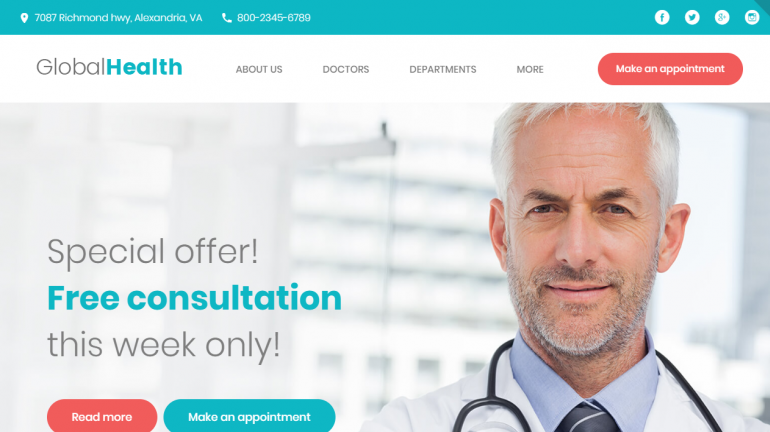 GlobalHealth: 10 Best Chiropractic WordPress Themes for 2019