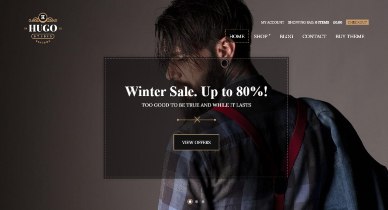 Hugo: The 50 Best WordPress eCommerce Themes of 2019 (Free and Paid)