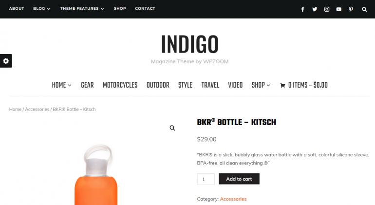 Indigo: The 50 Best WordPress eCommerce Themes of 2019 (Free and Paid)