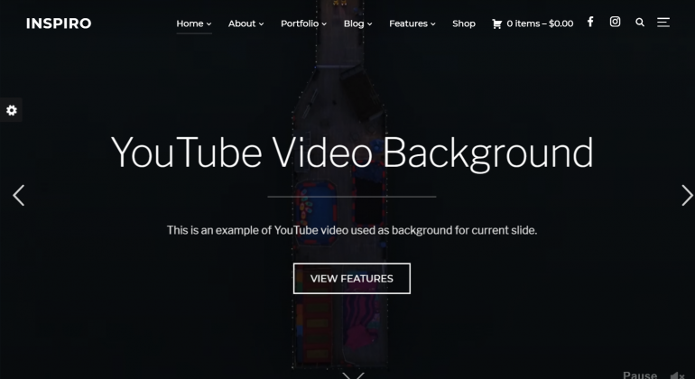 Inspiro: The Best WordPress Themes for Videographers 2019