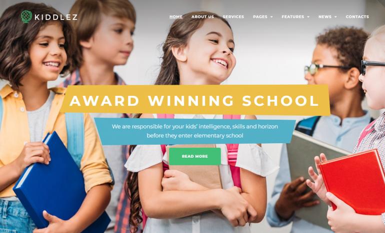 Kiddlez: The Best LearnDash Themes for WordPress 2020