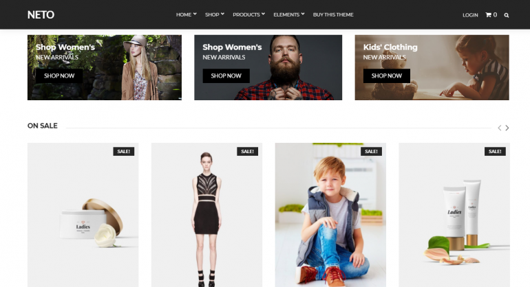 Neto: The 50 Best WordPress eCommerce Themes of 2019 (Free and Paid)