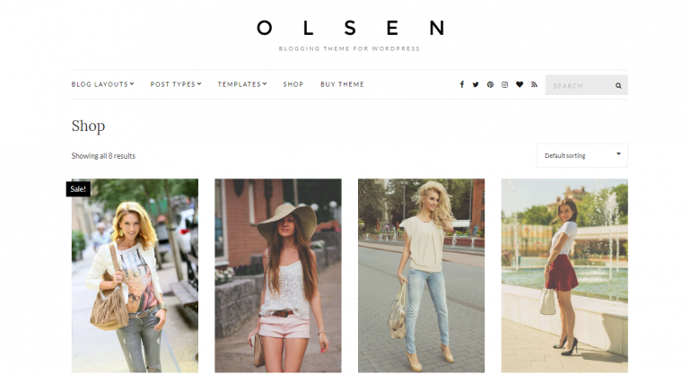 Olsen: The 50 Best WordPress eCommerce Themes of 2019 (Free and Paid)