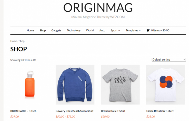 OriginMag: The 50 Best WordPress eCommerce Themes of 2019 (Free and Paid)
