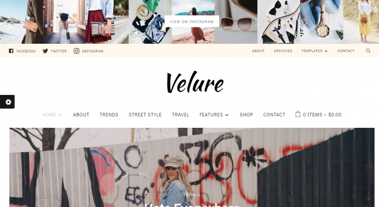 Velure: The 50 Best WordPress eCommerce Themes of 2019 (Free and Paid)