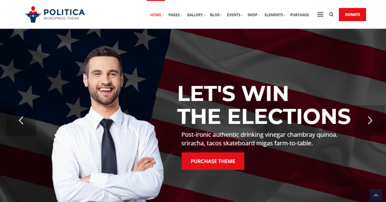 Politica: The 10 Best WordPress Themes for Political Campaigns and Candidates for 2019-2020 (Democrat/Republican/Independent)