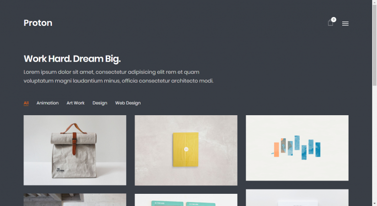 Proton: The 15 Best Minimalist WordPress Themes for 2019