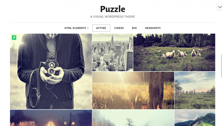 Puzzle: Best WordPress Themes for Actors and Actresses 2019