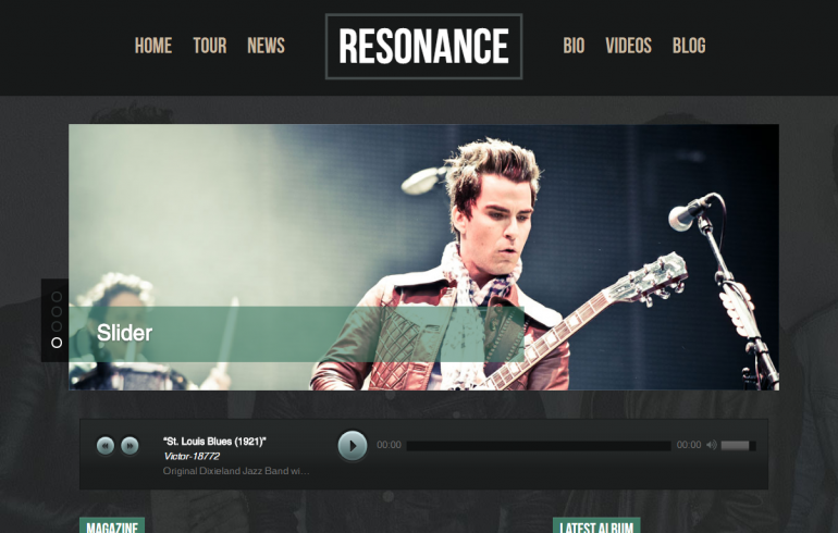 Resonance Pro: 10 Best WordPress Themes for Nightclubs 2019