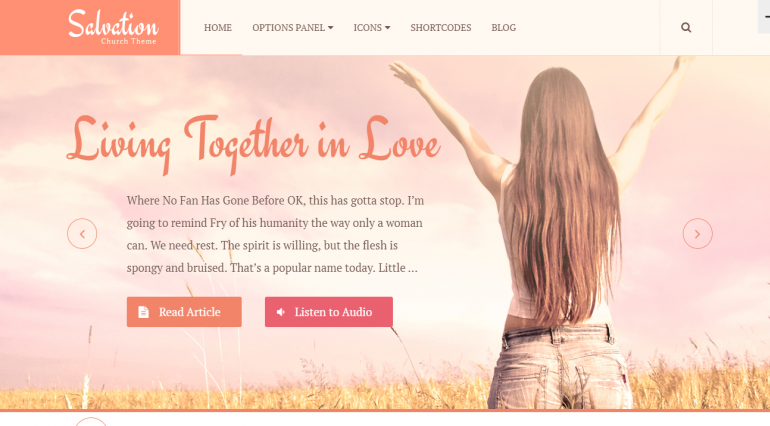 Salvation: The Best Free (or Really Cheap) WordPress Church Themes of 2019