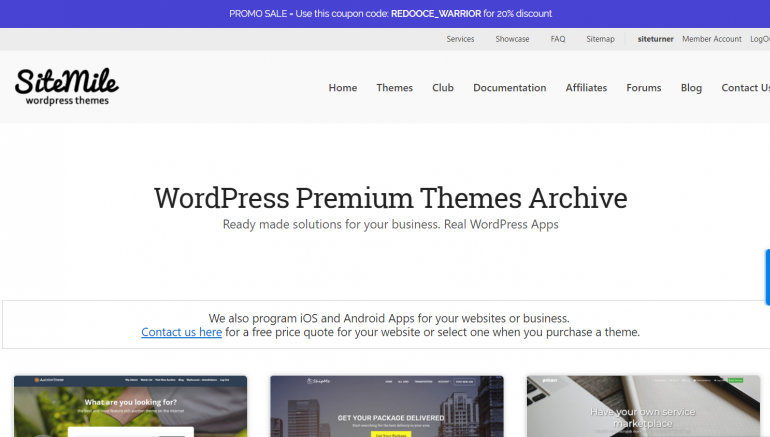 SiteMile: The Best Places to Buy WordPress Themes 2020