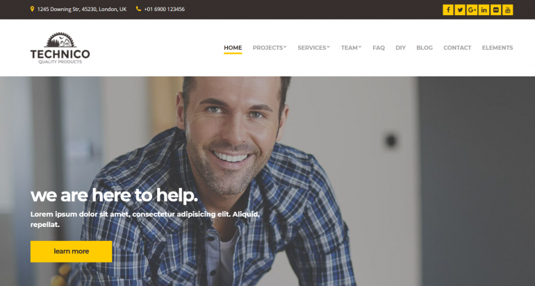 Technico: The 10 Best HVAC/Plumbing WordPress Themes for 2019