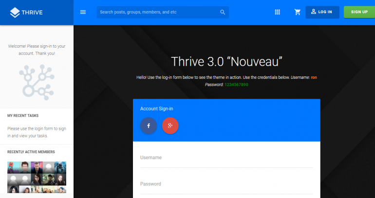 Thrive: The Best WordPress Themes For Membership Sites 2019