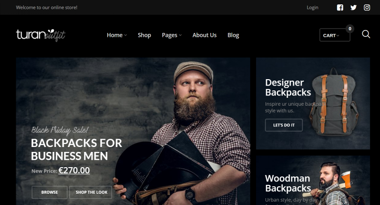 Turan: The 50 Best WordPress eCommerce Themes of 2019 (Free and Paid)