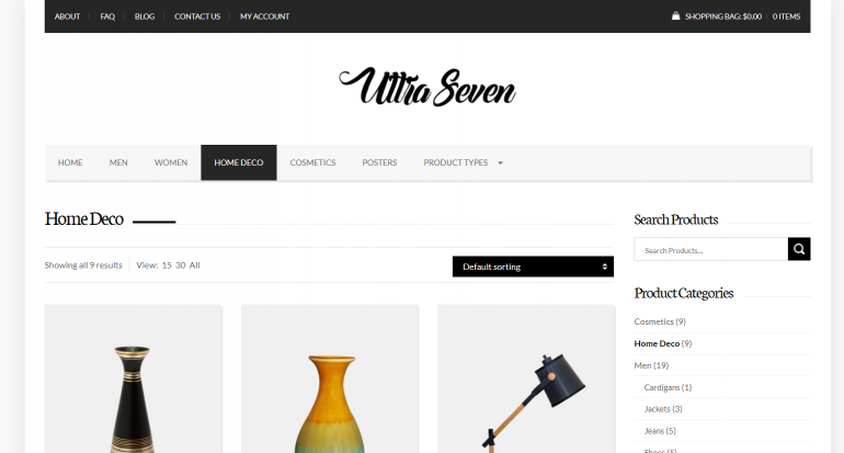 Ultra Seven: The 50 Best WordPress eCommerce Themes of 2019 (Free and Paid)
