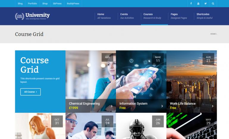 University: The Best LearnDash Themes for WordPress 2020