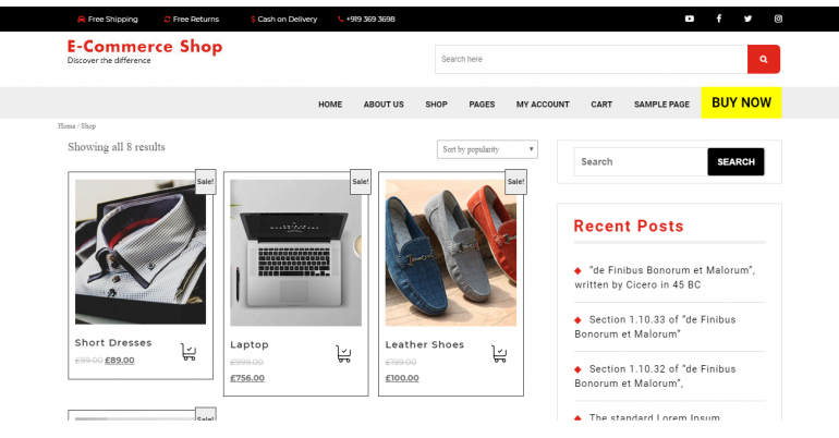 VW Ecommerce Shop: The 50 Best WordPress eCommerce Themes of 2019 (Free and Paid)