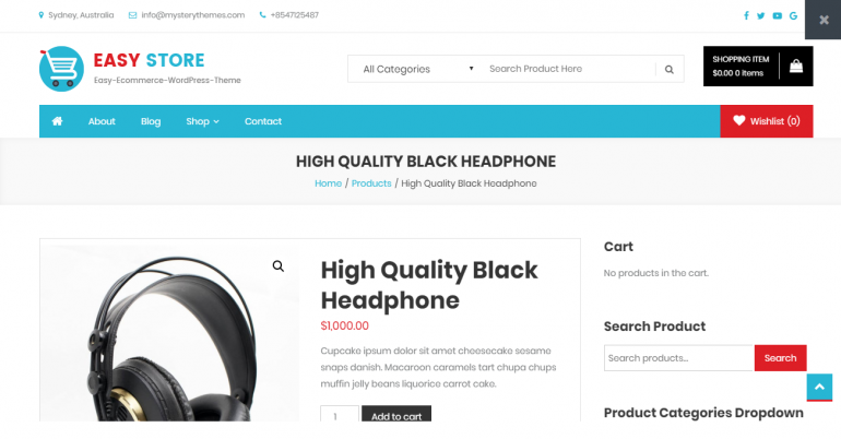 Easy Store: The 50 Best WordPress eCommerce Themes of 2019 (Free and Paid)
