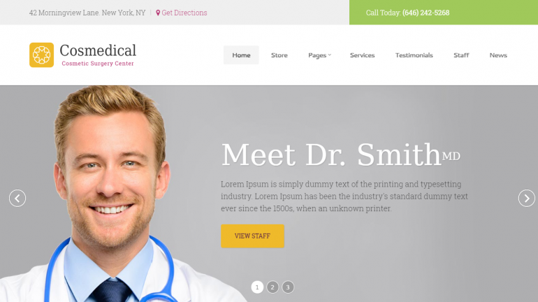 Cosmedical: 10 Best Chiropractic WordPress Themes for 2019