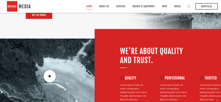 Drone Media: The Best WordPress Themes for Videographers 2019