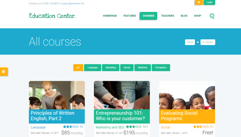 Education Center: The Best LearnDash Themes for WordPress 2018