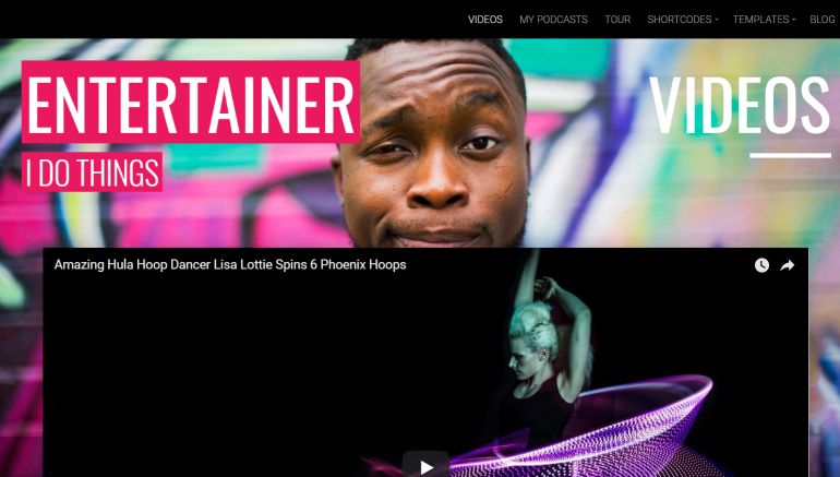 Entertainer: Best WordPress Themes for Actors and Actresses 2019