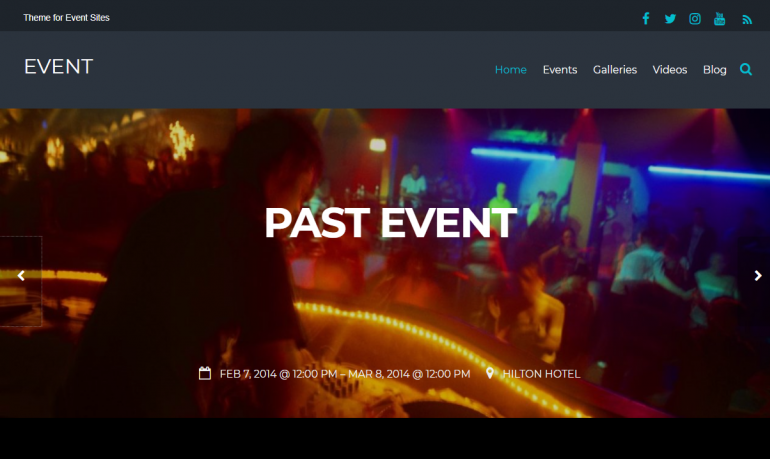Event: 10 Best WordPress Themes for Nightclubs 2019