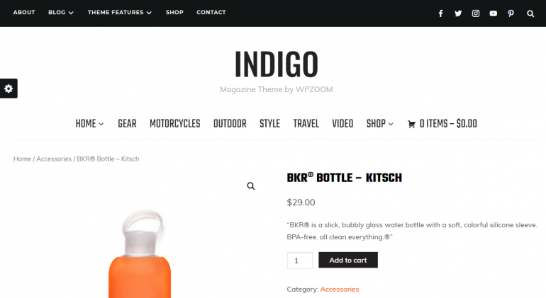 Indigo: The 50 Best WordPress eCommerce Themes of 2018 (Free and Paid)
