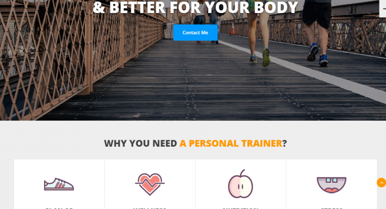 JustFit: Best WordPress Themes For Speakers, Life Coaches and Motivational Speakers 2019