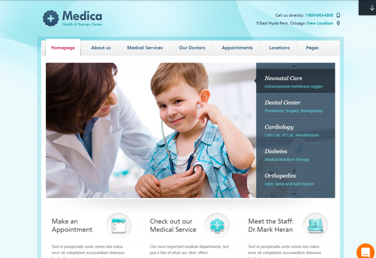 Medica: 10 Best Chiropractic WordPress Themes for 2019