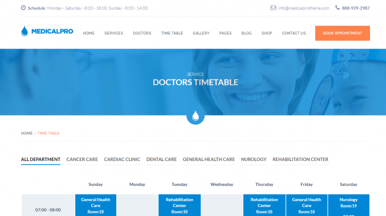 MedicalPro: 10 Best Chiropractic WordPress Themes for 2018