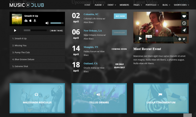 Music Club: 10 Best WordPress Themes for Nightclubs 2019