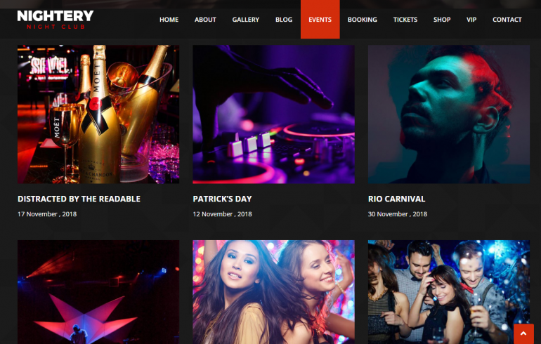 Nightery: 10 Best WordPress Themes for Nightclubs 2018