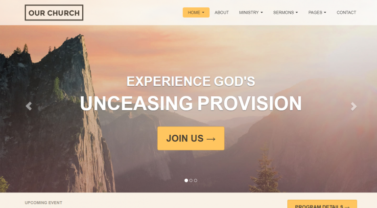 Our Church: The Best Free (or Really Cheap) WordPress Church Themes of 2018