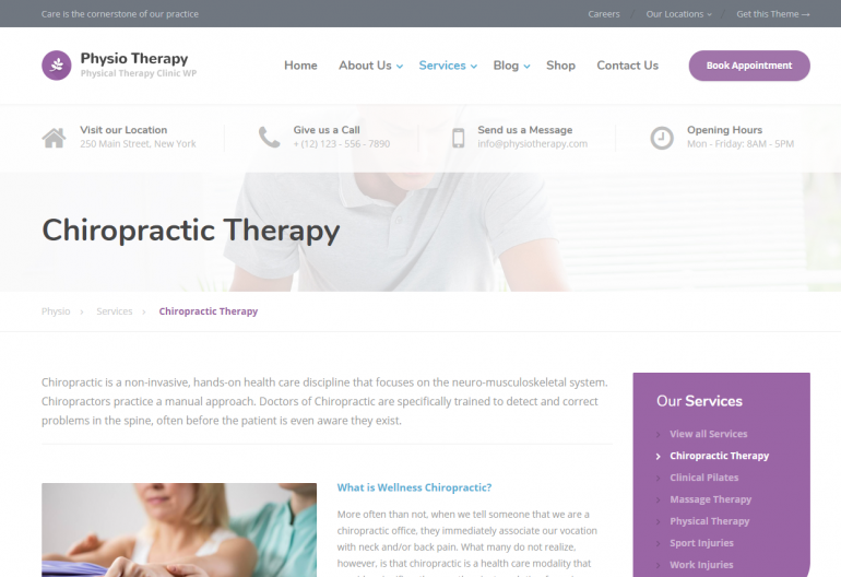 Physio: 10 Best Chiropractic WordPress Themes for 2018