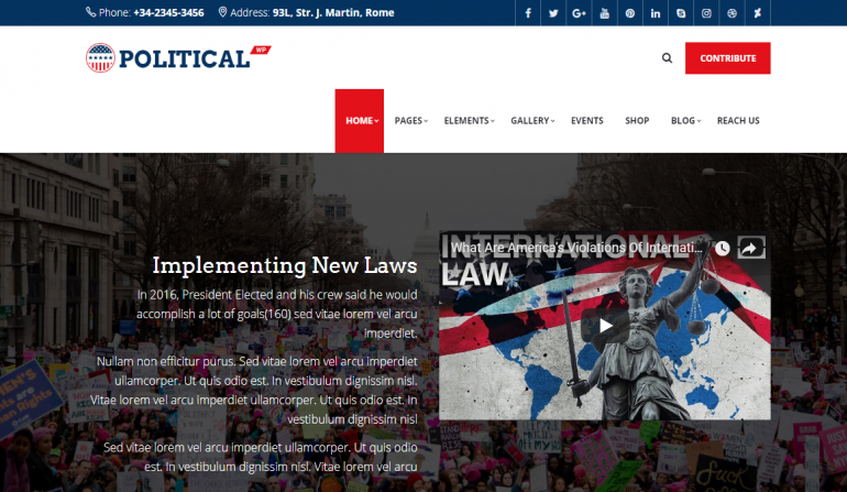 PoliticalWP: The 10 Best WordPress Themes for Political Campaigns and Candidates 2018 (Democrat/Republican/Independent)