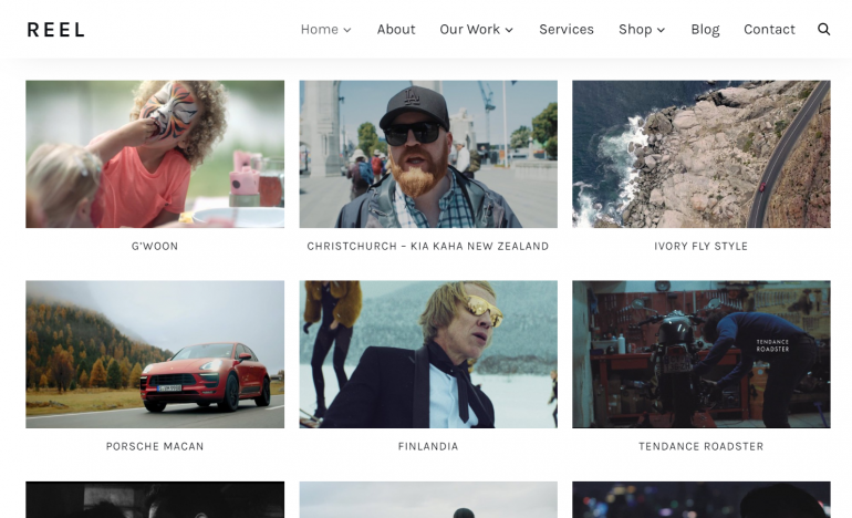 Reel: The Best WordPress Themes for Videographers 2019
