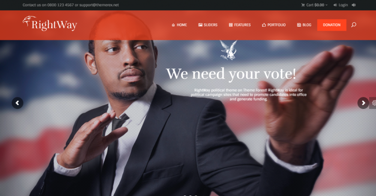 Right Way: The 10 Best WordPress Themes for Political Campaigns and Candidates 2018 (Democrat/Republican/Independent)